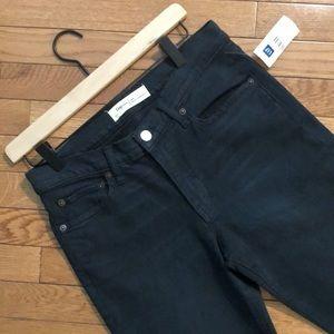 Gap real straight dark blue/black wash jeans